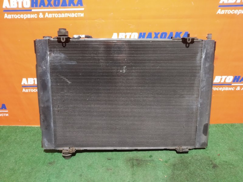 Радиатор двигателя Toyota Alphard ANH10W 2AZ-FE 2002 2837 +диффузор с двумя вентиляторами и