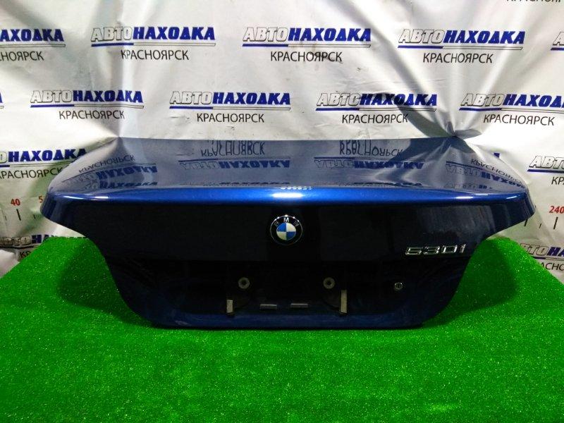 Крышка багажника Bmw 530I E60 N52B30 2003 41627122441 цвет A07, в сборе, проводка обрезана, есть