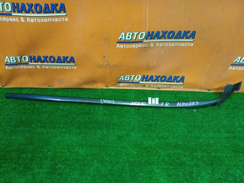 Молдинг лобового стекла Toyota Alphard ANH10 2AZ-FE правый