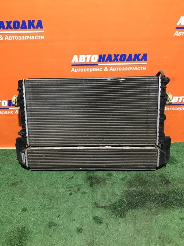 Радиатор двигателя Volkswagen Polo 6R1 CBZC 2008 диффузор+вент+датчик включения вентиляторов