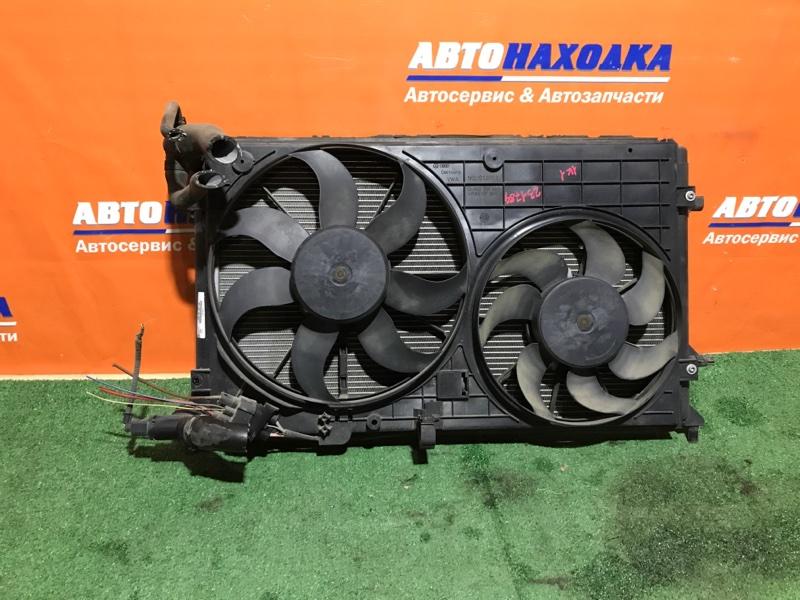 Радиатор двигателя Volkswagen Golf 1K1 BCA 2003 диффузор+2 вентилятора