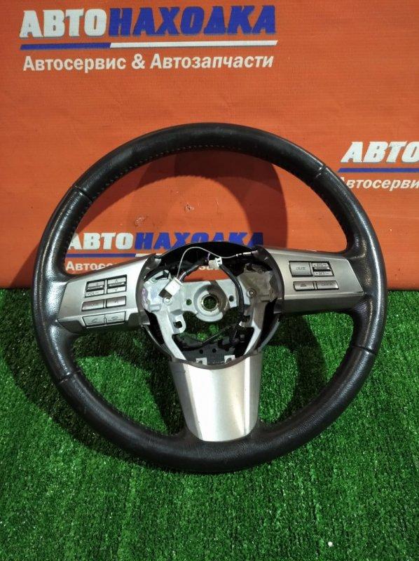 Руль Subaru Legacy BR9 EJ25 2009 без airbag кожаный мультируль/есть потертости