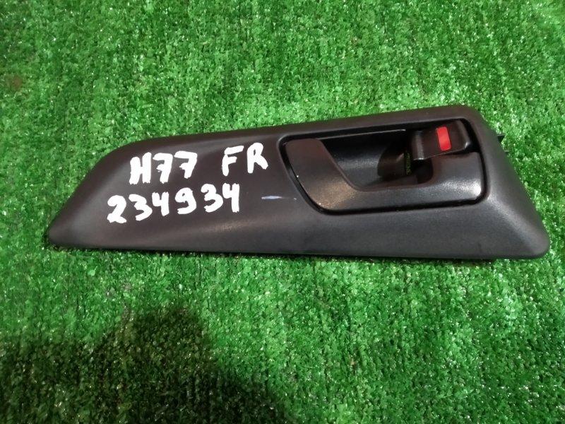 Ручка внутренняя Mitsubishi Pajero Io H77W 4G94 2000 передняя правая +накладка