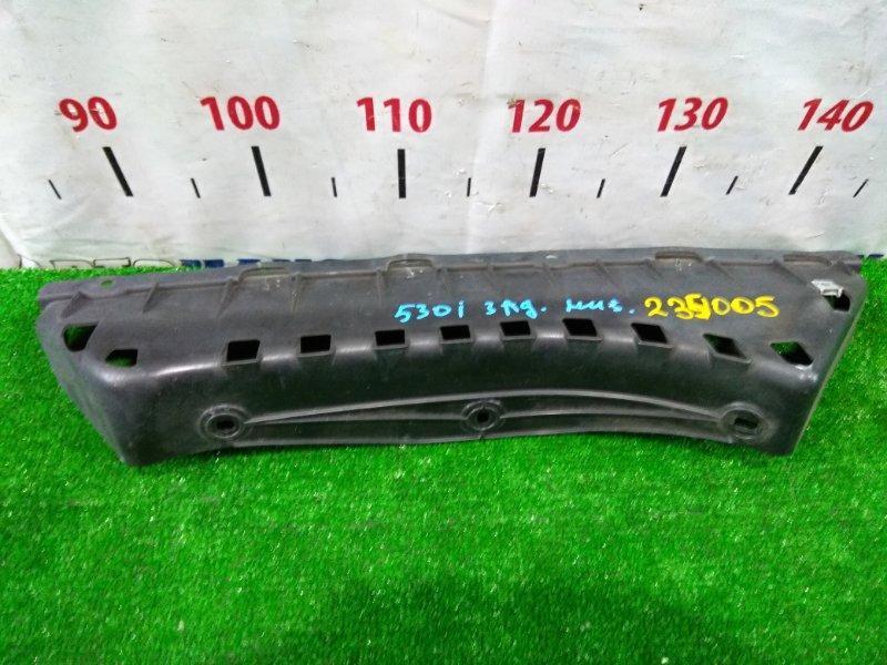 Защита Bmw 530I E60 N52B30 2003 задняя нижняя 51127056388 Направляющая заднего бампера (ЦЕНТРАЛЬНАЯ)