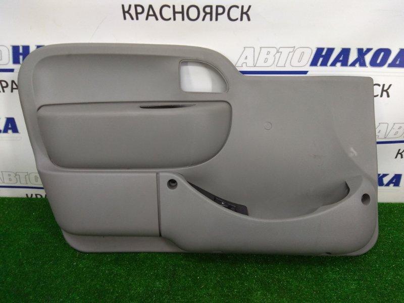 Обшивка двери Renault Kangoo KC K4M 2003 передняя левая 8200357832 с кнопкой стеклоподъемника, серая