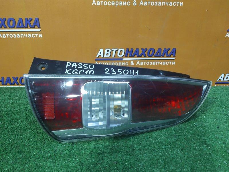 Фонарь задний Toyota Passo KGC10 1KR-FE правый 220-51762