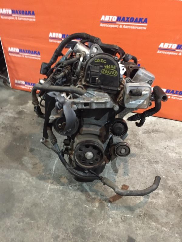 Двигатель Volkswagen Polo 6R1 CBZC 2008 466165 56т.км без турбины, генератора,компрессора,дросселя,