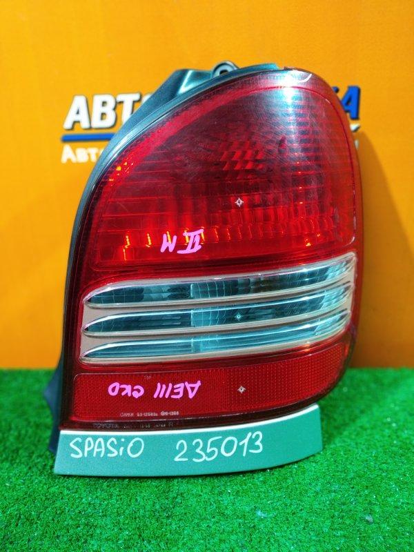 Фонарь задний Toyota Corolla Spacio AE111 4A-FE 06.2000 правый 13-58 2MOD, +ПЛАНКА СЕРЕБРИСТАЯ