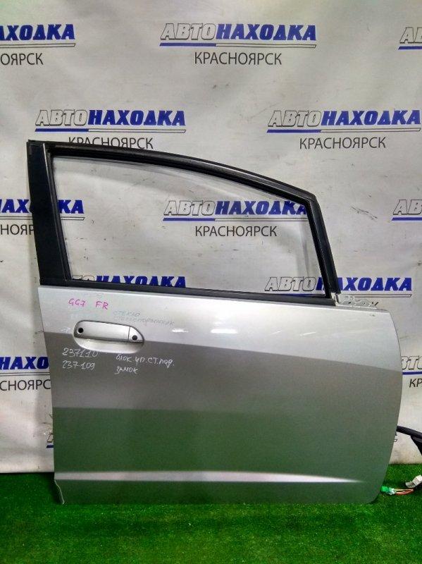 Дверь Honda Fit Shuttle GG7 L15A 2013 передняя правая FR без стекла, с/подъемника, замка и блока. Цвет