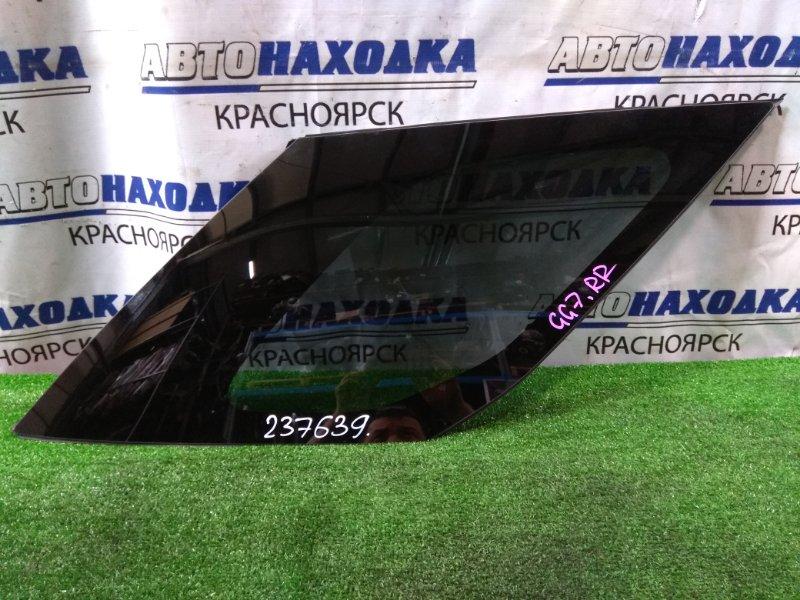 Стекло собачника Honda Fit Shuttle GG7 L15A 2013 заднее правое RR