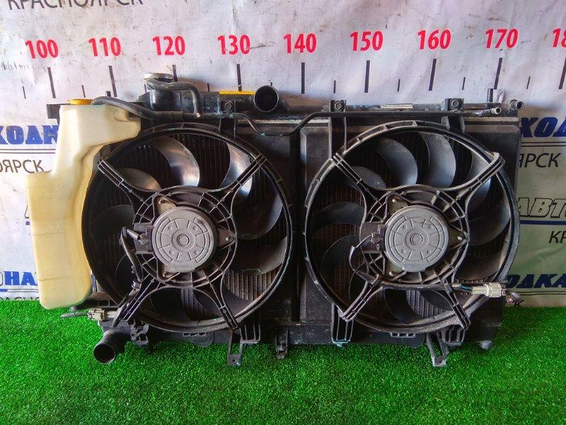 Радиатор двигателя Subaru Exiga YA5 EJ20-T 2008 с диффузорами и вентиляторами + бачок