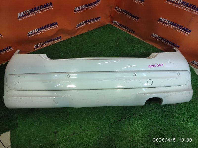 Бампер Peugeot 207 WC EP6 задний 9654549377, 1859864016 +СОНАРЫ