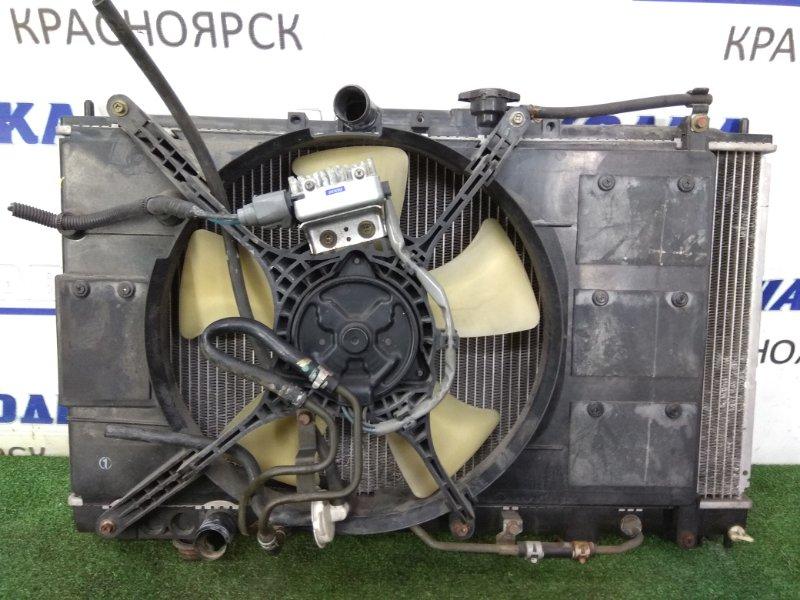 Радиатор двигателя Mitsubishi Legnum EA7W 4G94 1998 в сборе с диффузором, вентилятором и блоком