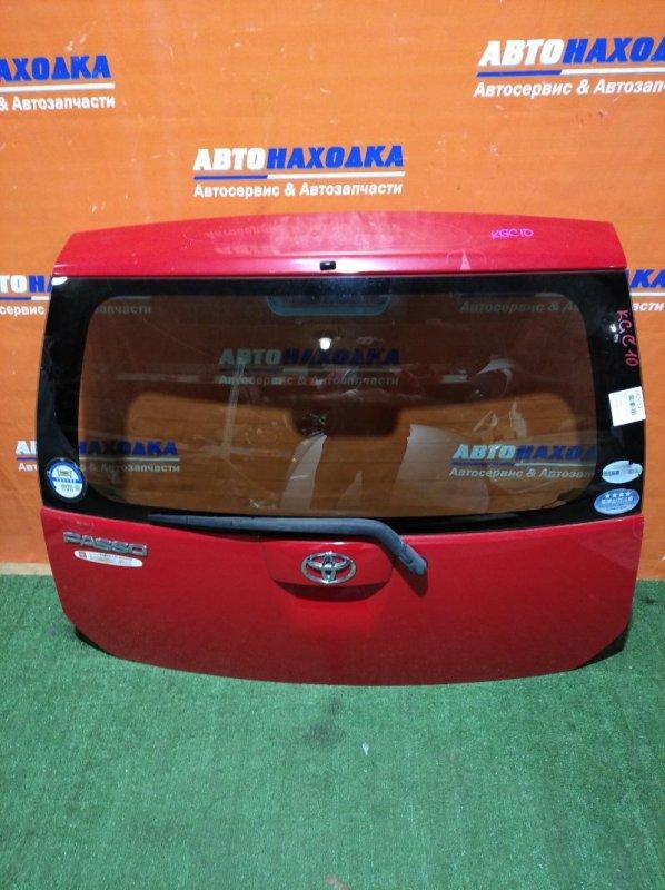 Дверь задняя Toyota Passo KGC10 1KR-FE 2004 под покраску/метла/стекло нетонир