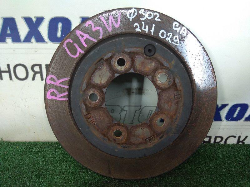 Диск тормозной Mitsubishi Asx GA3W 4B10 2010 задний 4615A121 задний, невентилируемый, D = 302 мм