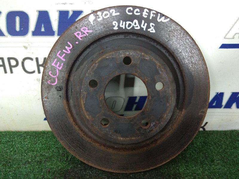 Диск тормозной Mazda Biante CCEFW LF-VDS 2008 задний задний, невентилируемый, 302 мм