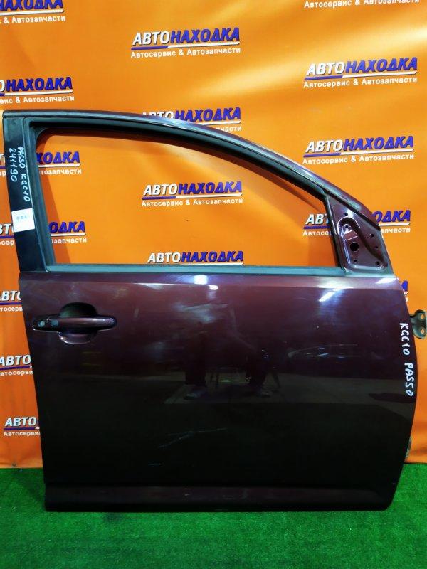 Дверь Toyota Passo KGC10 1KR-FE передняя правая