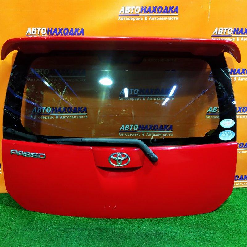 Дверь задняя Toyota Passo KGC10 1KR-FE +МЕТЛА, +СПОЙЛЕР, РЖАВЧИНА В ЛЕВОМ НИЖНЕМ УГЛУ, ВНУТРИ