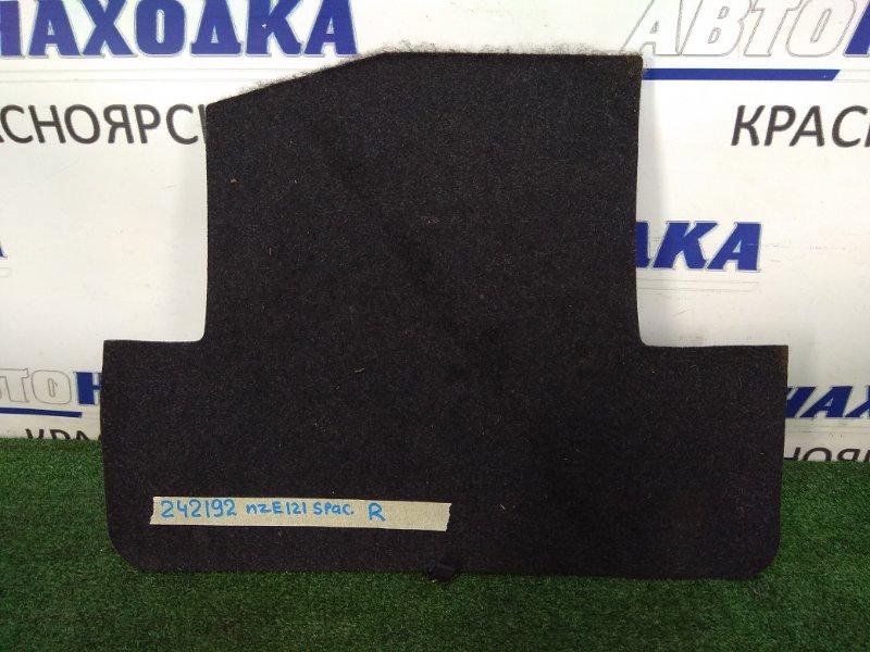 Пол багажника Toyota Corolla Spacio NZE121N 1NZ-FE 2001 правый 58534-13010 правый полик-крышка в ноги