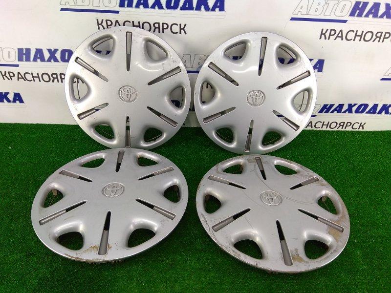 Колпаки колесные Toyota Nadia SXN10 3S-FSE 1998 42621-44030 комплект 4 штуки, R15, оригинальные,