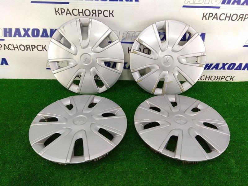 Колпаки колесные Mitsubishi Mirage A05A 3A90 2012 4252A020 комплект 4 штуки, R14, оригинальные,