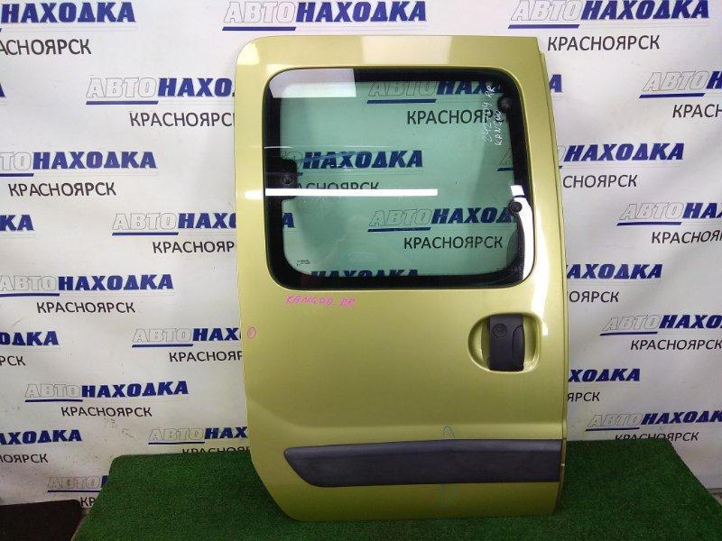 Дверь Renault Kangoo KC K4M 2003 задняя правая дверь задняя правая, сдвижная, в сборе, зеленая