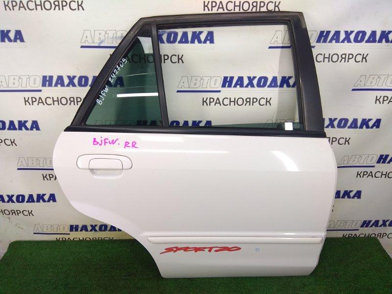 Дверь Mazda Familia BJFW FS-ZE 1998 задняя правая задняя правая, в сборе, белая (A3D), в целом ХТС,