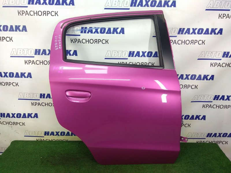 Дверь Mitsubishi Mirage A05A 3A90 2012 задняя правая задняя правая, в сборе, розовая (V08A), в целом ХТС,
