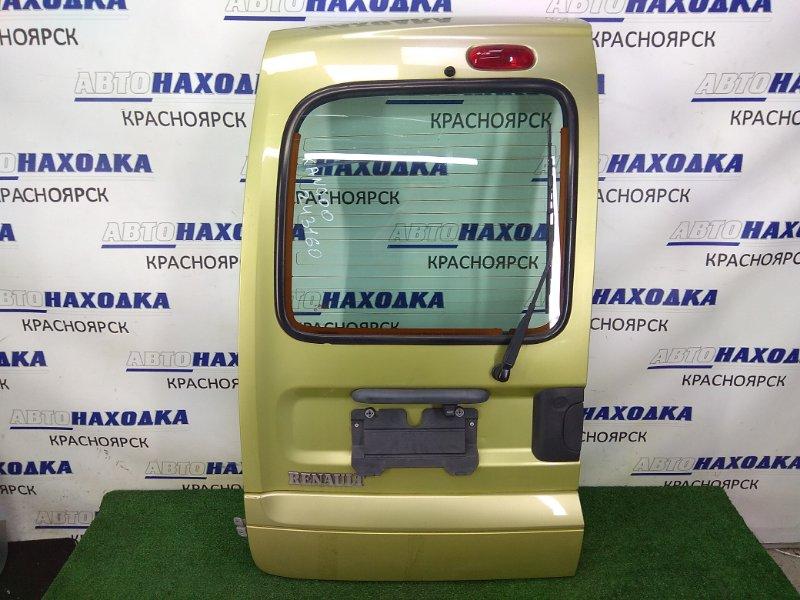 Дверь задняя Renault Kangoo KC K4M 2003 задняя левая дверь багажника левая, в сборе, метла, камера,