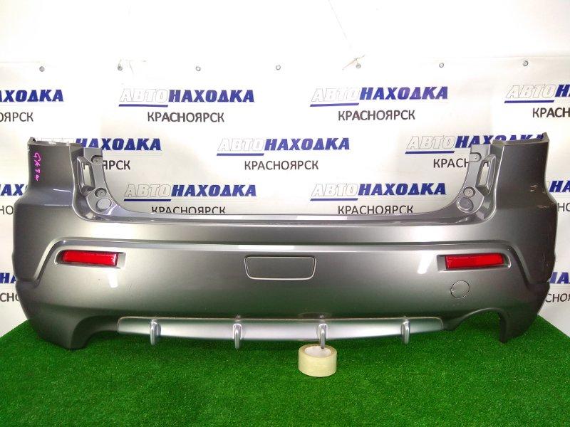 Бампер Mitsubishi Asx GA3W 4B10 2010 задний задний, 1 модель, катафоты (1197-229), серый (U17C), лом левого