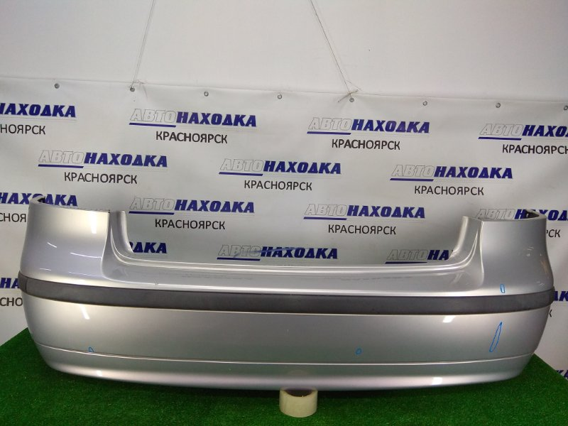 Бампер Saab 9-3 YS3F B207E 2000 задний задний, серебро, малозаметные вмятинки, незначительные