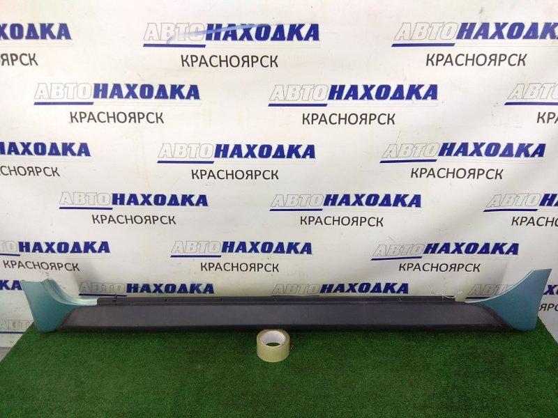 Порог Toyota Ist NCP61 1NZ-FE 2002 левый левый, некрашеный, с бирюзовыми (761) заглушками (
