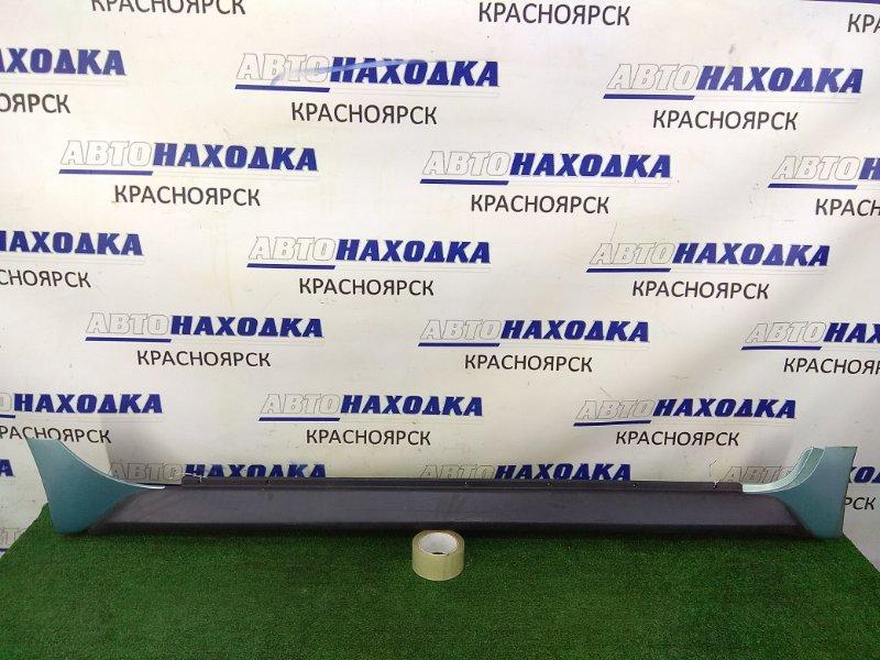 Порог Toyota Ist NCP61 1NZ-FE 2002 правый правый, некрашеный, с бирюзовыми (761) заглушками (