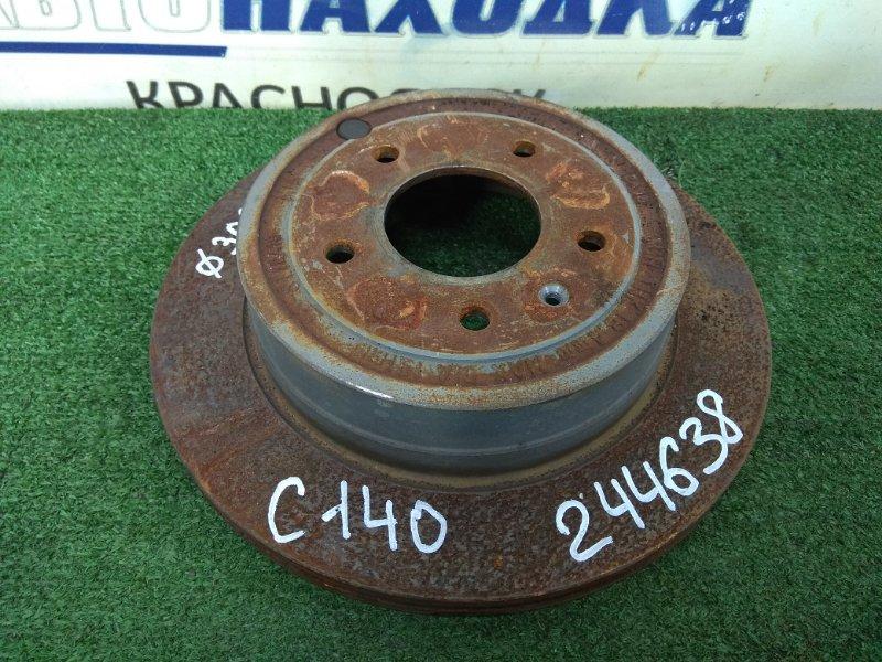 Диск тормозной Chevrolet Captiva C140 A24XE 2011 задний задний, вентилируемый, 303 мм, пробег 56 т.км