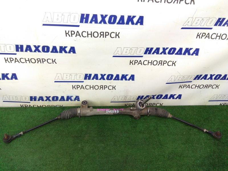 Рейка рулевая Mitsubishi Mirage A05A 3A90 2012 ХТС, сухая, в сборе с тягами и наконечниками,