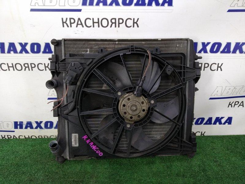 Радиатор двигателя Renault Kangoo KC K4M 2003 В сборе с диффузором, вентилятором и реостатом