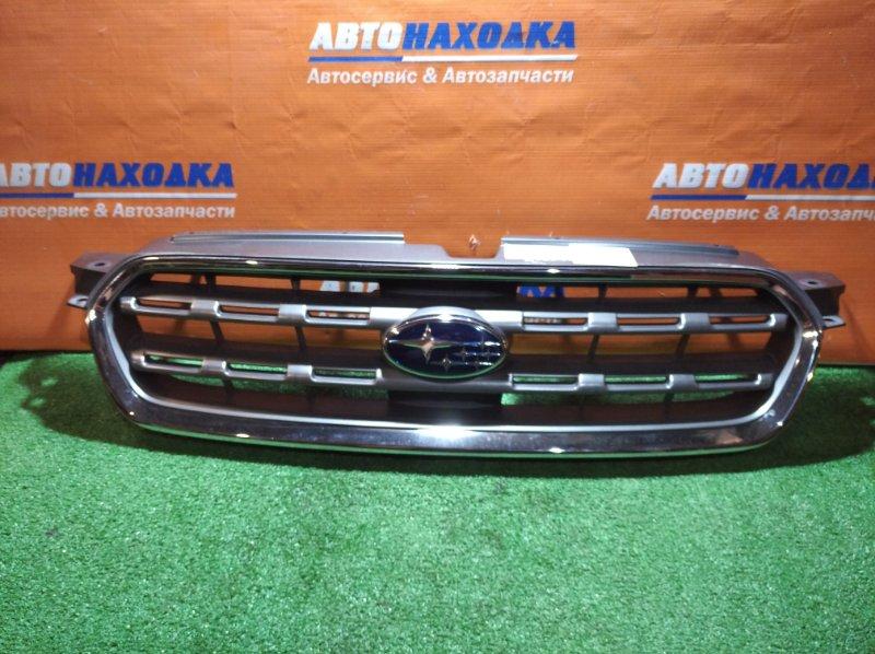 Решетка радиатора Subaru Outback BP9 EJ25 2003 1мод есть потертости, хров местами вздулся