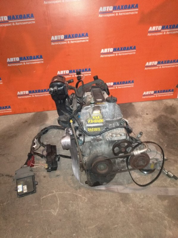 Двигатель Suzuki Kei HN22S K6A 2000 2184543 68т.км форсунки+коллектор впуск+клапан