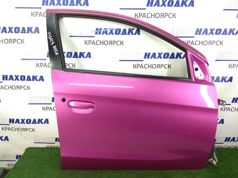 Дверь Mitsubishi Mirage A05A 3A90 2012 передняя правая ХТС, передняя правая, розовая (V08A), без стекла,