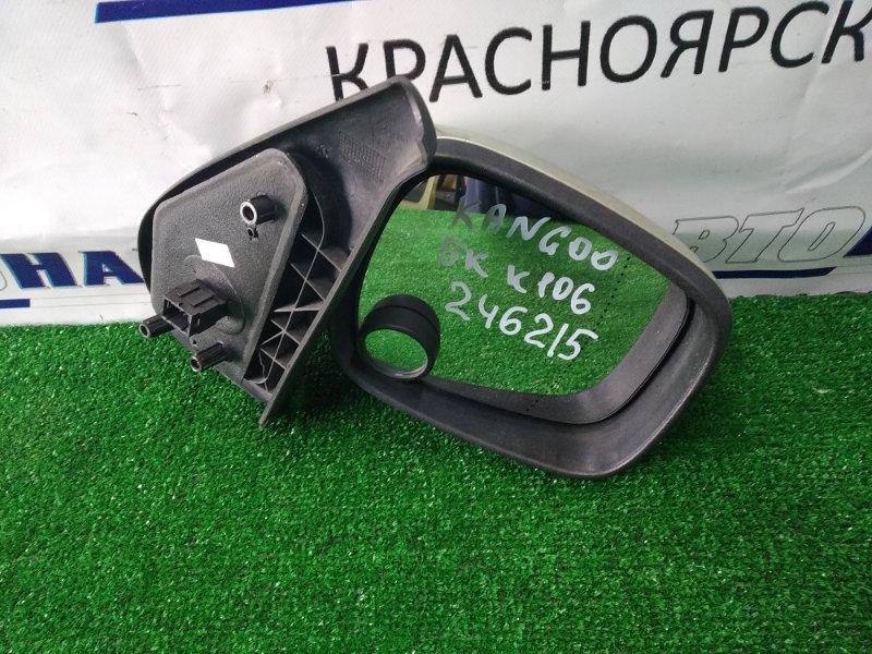 Зеркало Renault Kangoo KC K4M 2003 переднее правое правое, зеленое (TED99), правый руль, 5 контактов,