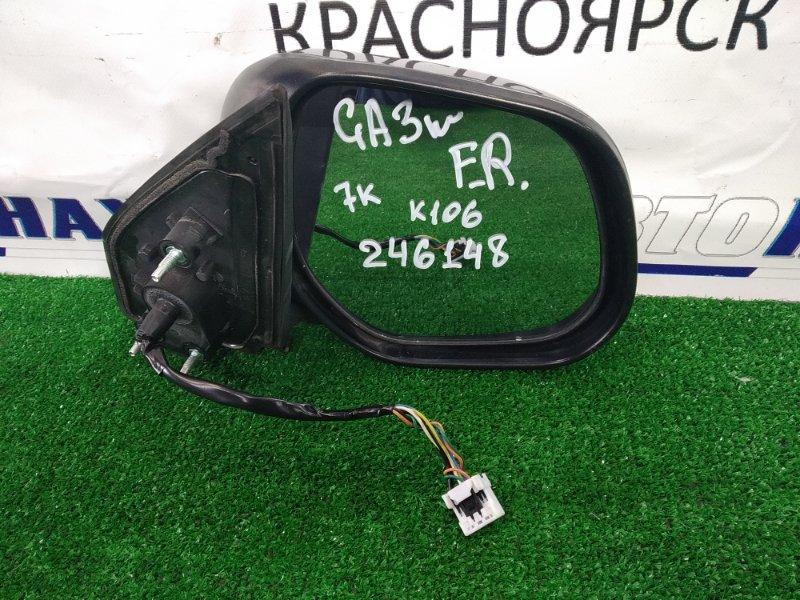 Зеркало Mitsubishi Asx GA3W 4B10 2010 переднее правое правое, правый руль (RVR), серая (U17C), 7 контактов,