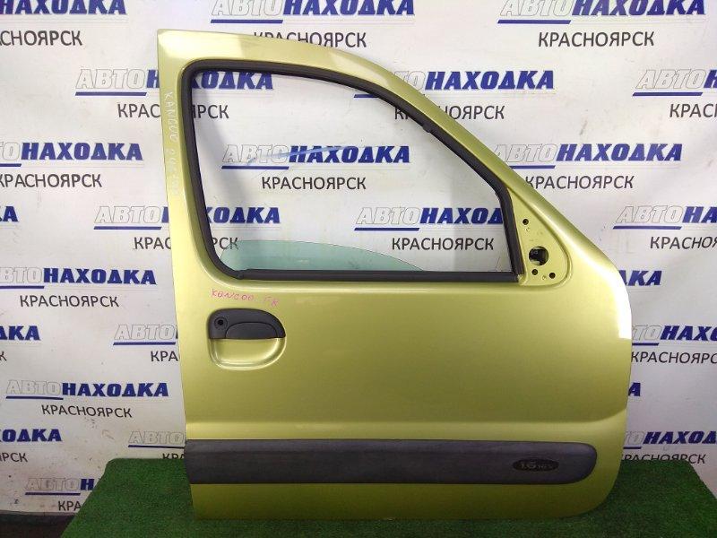 Дверь Renault Kangoo KC K4M 2003 передняя правая передняя правая, в сборе, зеленая (TED99), без блока