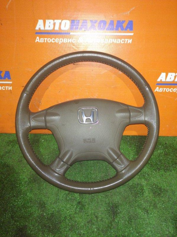 Руль Honda Cr-V RD6 K24A 2004 кожа+заглушка без заряда