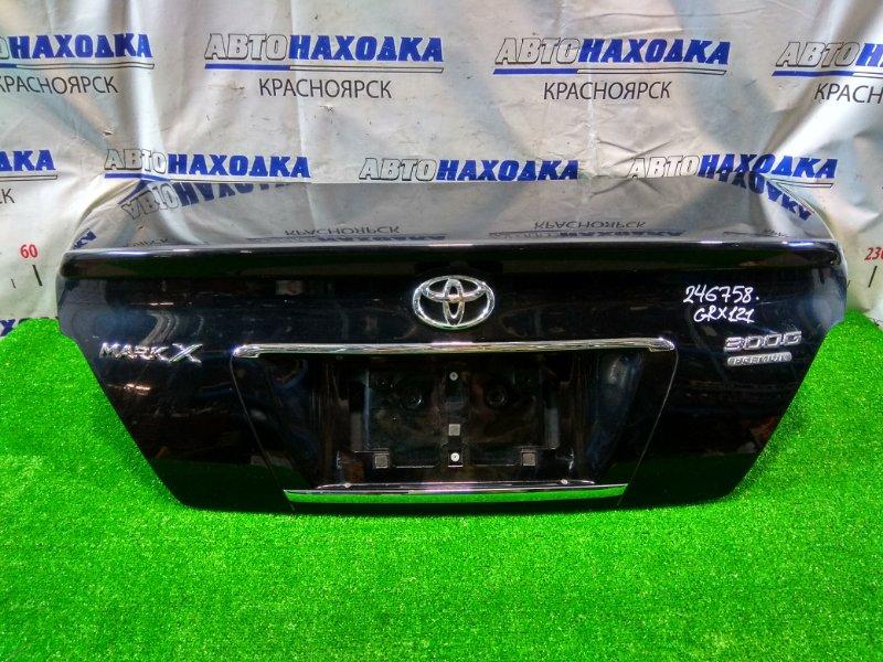 Крышка багажника Toyota Mark X GRX121 3GR-FSE 2004 задняя В сборе. В ХТС. Со спойлером, с камерой З/Х