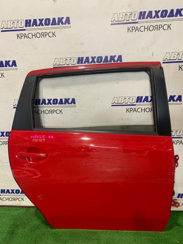 Дверь Toyota Passo Sette M502E 3SZ-VE 2008 задняя правая RR в сборе, цвет 3P0, есть пара коцок *