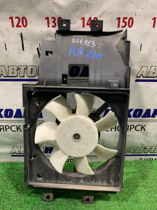 Вентилятор радиатора Nissan Cube ANZ10 CGA3DE 1999 на кондиционер, с диффузором