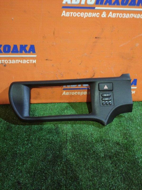 Консоль магнитофона Toyota Aqua NHP10 1NZ-FXE 2011 +кнопка часов+аварийки