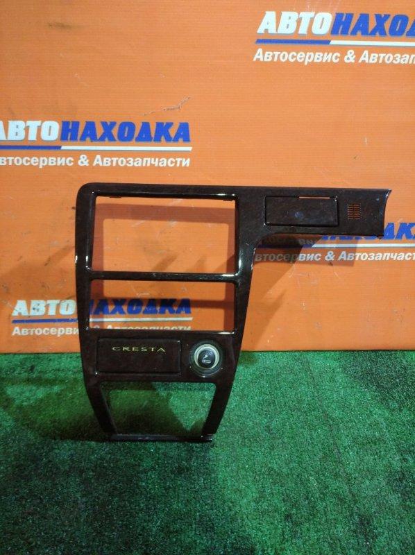 Консоль магнитофона Toyota Cresta GX100 1G-FE 1996 +прикуриватель