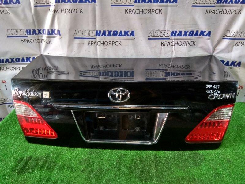Крышка багажника Toyota Crown GRS182 3GR-FSE 2003 В сборе. В ХТС. С камерой З/Х
