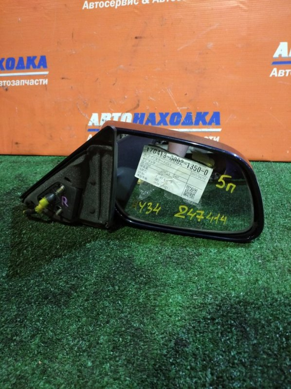 Зеркало Nissan Gloria HY34 VQ30DD 1999 правое 5 контактов/цвет BW5